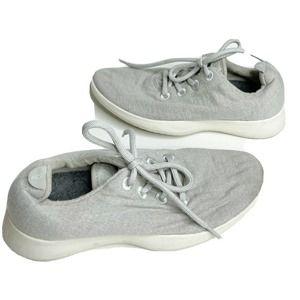 Allbirds Wool Runner Light Gray Lace Up Sneakers